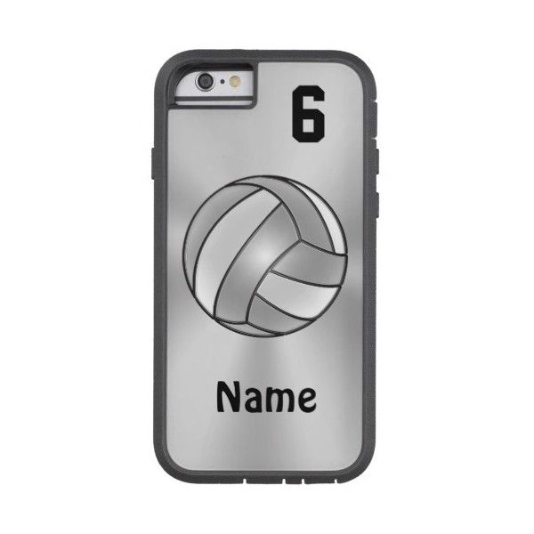 Volleyball Iphone 6 Cases Your Name And Number Tough Xtreme Iphone 6 56 Liked On Polyvor Volleyball Phone Cases Volleyball Iphone Case Cute Phone Cases
