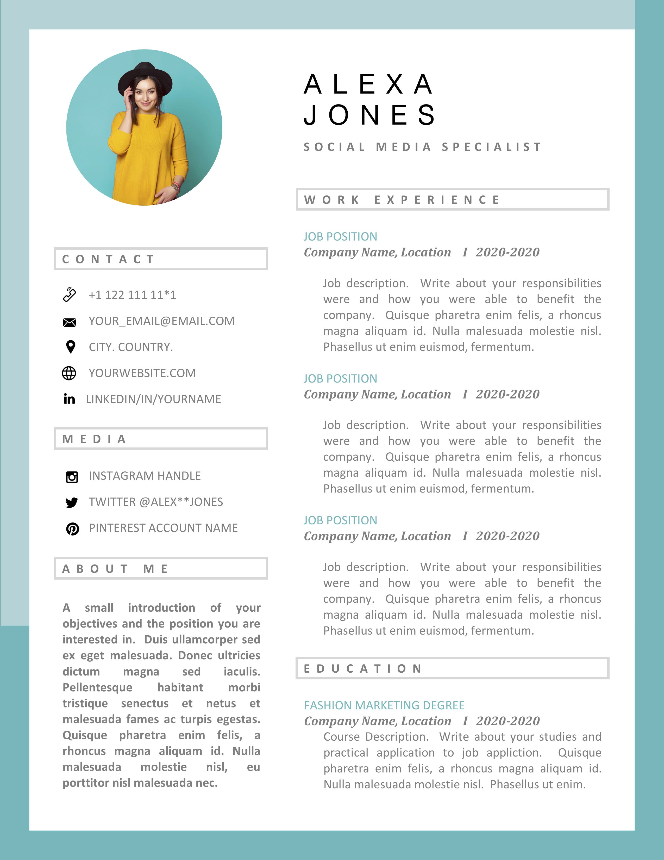 creative resume template - designer resume