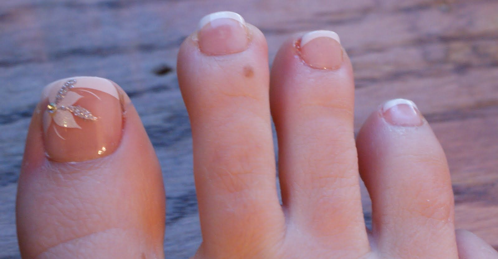 French Toe Nail Designs