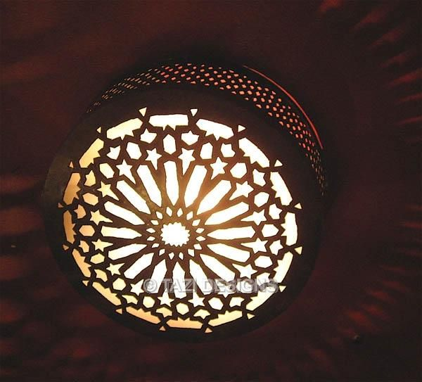 Wonderful Moroccan Light Fixtures | Ceiling Light   Middle Eastern Star : Moroccan  Lamps U0026 Lanterns .