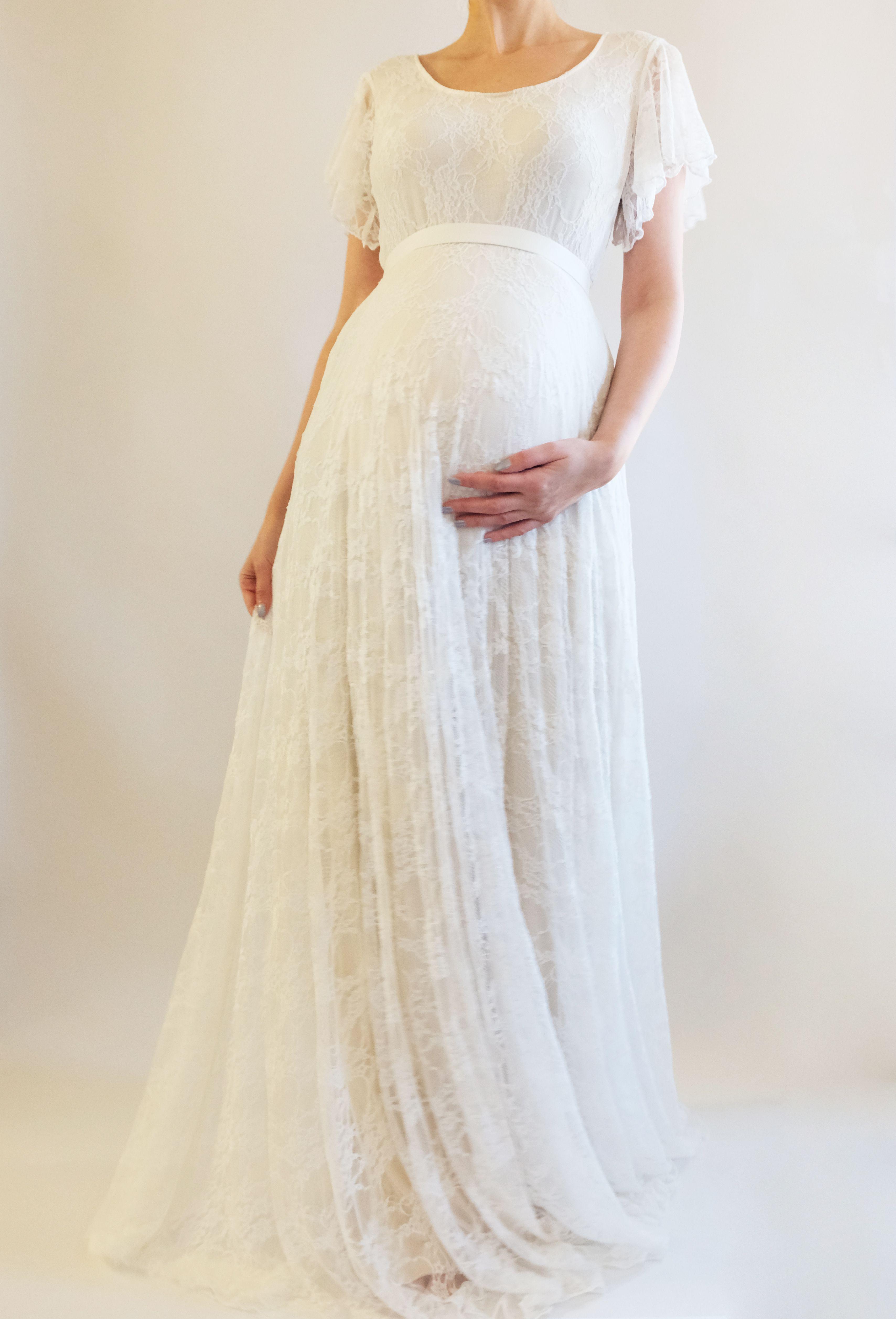 ALICE Boho Wedding Dress Lace Wedding Dress Maternity Dress Boho