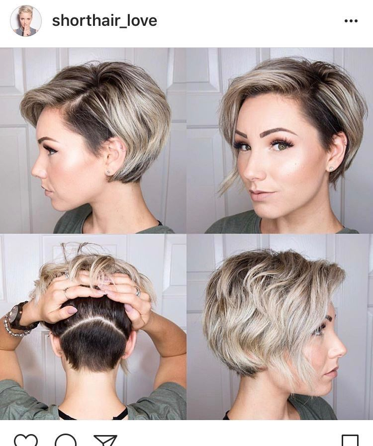 Image result for undercut long pixie