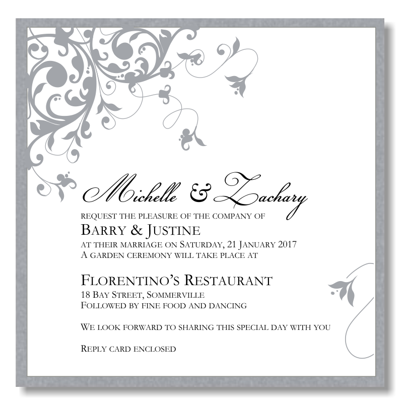 American Wedding Invitations Template Best Template Collection