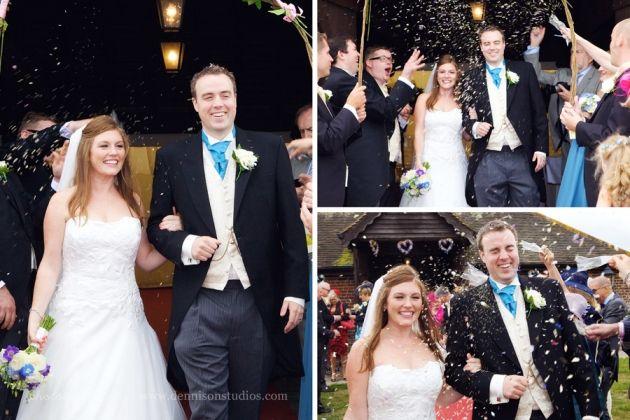Laughton Barns wedding photography. Sussex wedding. Barn wedding. Dennison Studios Photography. Wedding inspiration. Pale blue wedding theme. Powder blue bridesmaids dresses. Blue and purple flowers.