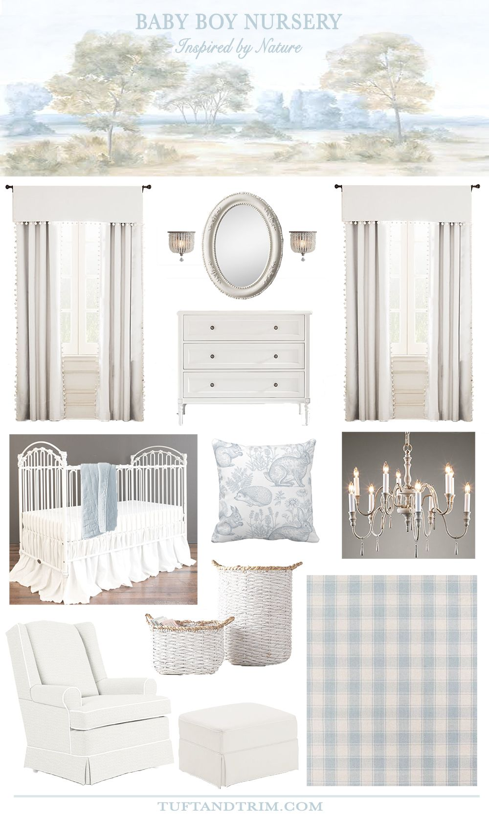 Baby Boy Nursery: Inspired by Nature - Tuft & Trim