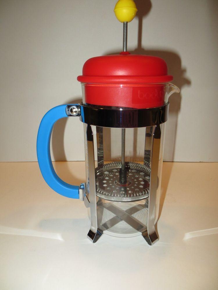 b618783f9b47 Bodum Caffettiera 1-Liter 8-Cup French Press Coffee Maker Red ...
