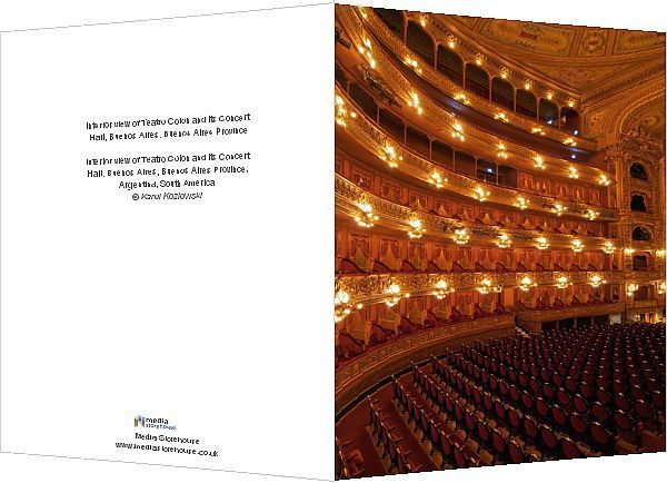 Print of Interior view of Teatro Colon and its Concert Hall Buenos Aires Buenos Aires Province