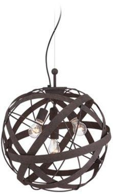 "$200 Orbital Weave 19 1/2"" Wide Rust Metal Pendant Light - Euro Style Lighting"