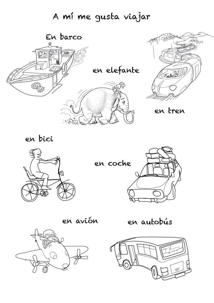 means of transportations rockalingua spanish class ideas spanish language learning. Black Bedroom Furniture Sets. Home Design Ideas