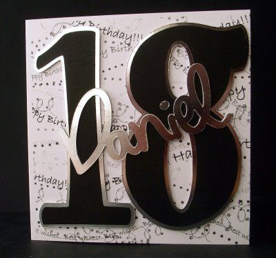 1000 images about 18th Birthday Ideas – Handmade 18th Birthday Card