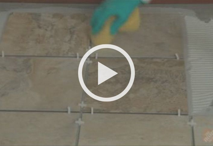 How To Install Tile Flooring At The Home Depot Ensure Tiles Level Clean Ceramic