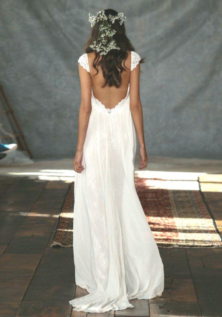 Rückenfreies halbnacktes Brautkleid aus Spitze 17 Designs