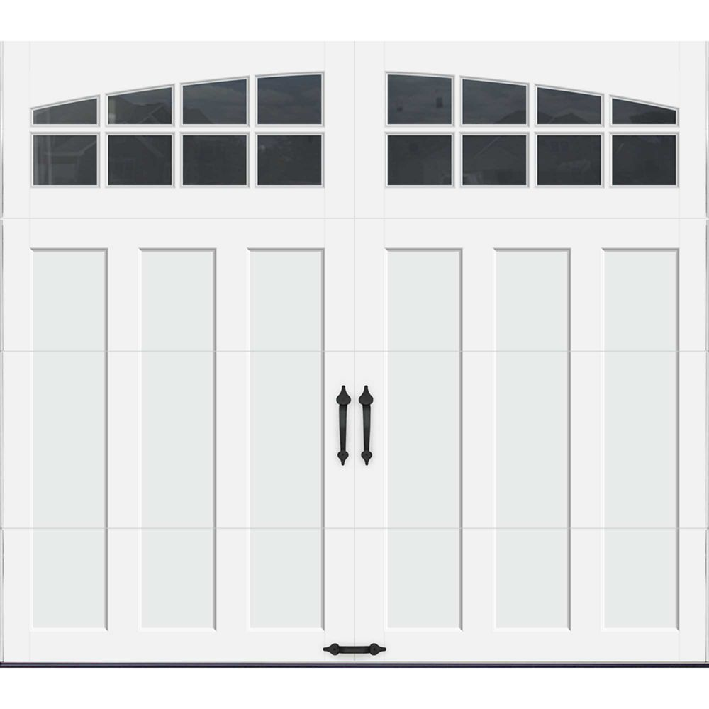 Coachman Collection 8 Ft X 7 Ft Intellicore Insulated White Garage Door With Arch Window Garage Door Styles Garage Doors Garage Door Design