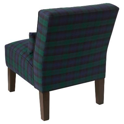 Best Burke Slipper Chair Blue Plaid Threshold™ Cozy Chair 400 x 300