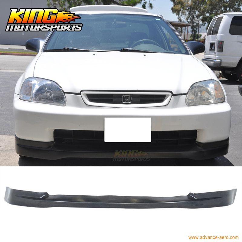 For 96 98 Honda Civic Ek Jdm Ctr Lower Front Bumper Lip Spoiler Bodykit Pu Honda Civic Honda Civic