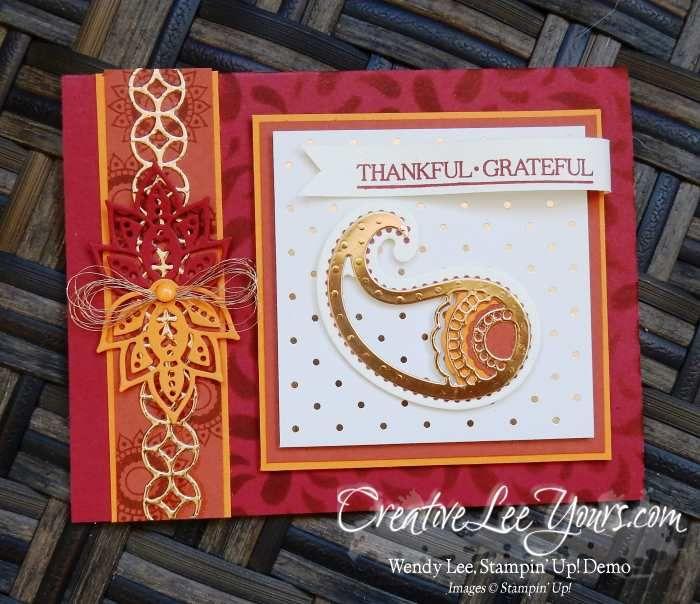 Stampin Up Seasonal Decorative Masks Fascinating Thankful Grateful Paisleywendy Lee Stampin Up Paisleys Inspiration
