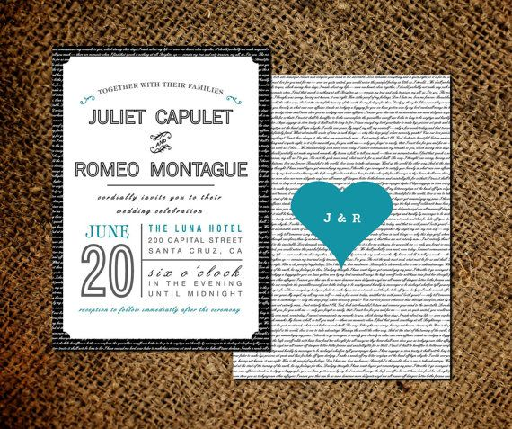 Love Letter Wedding Invitation Rsvp Card Old Fashioned Style