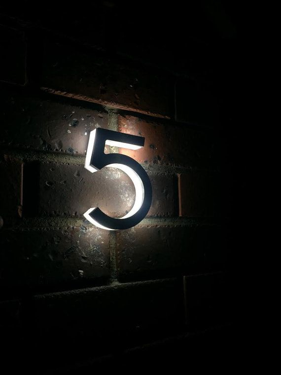 Machined Aluminum Custom Made Laser Cut Led By Pacificlaserarts House Numbers Door