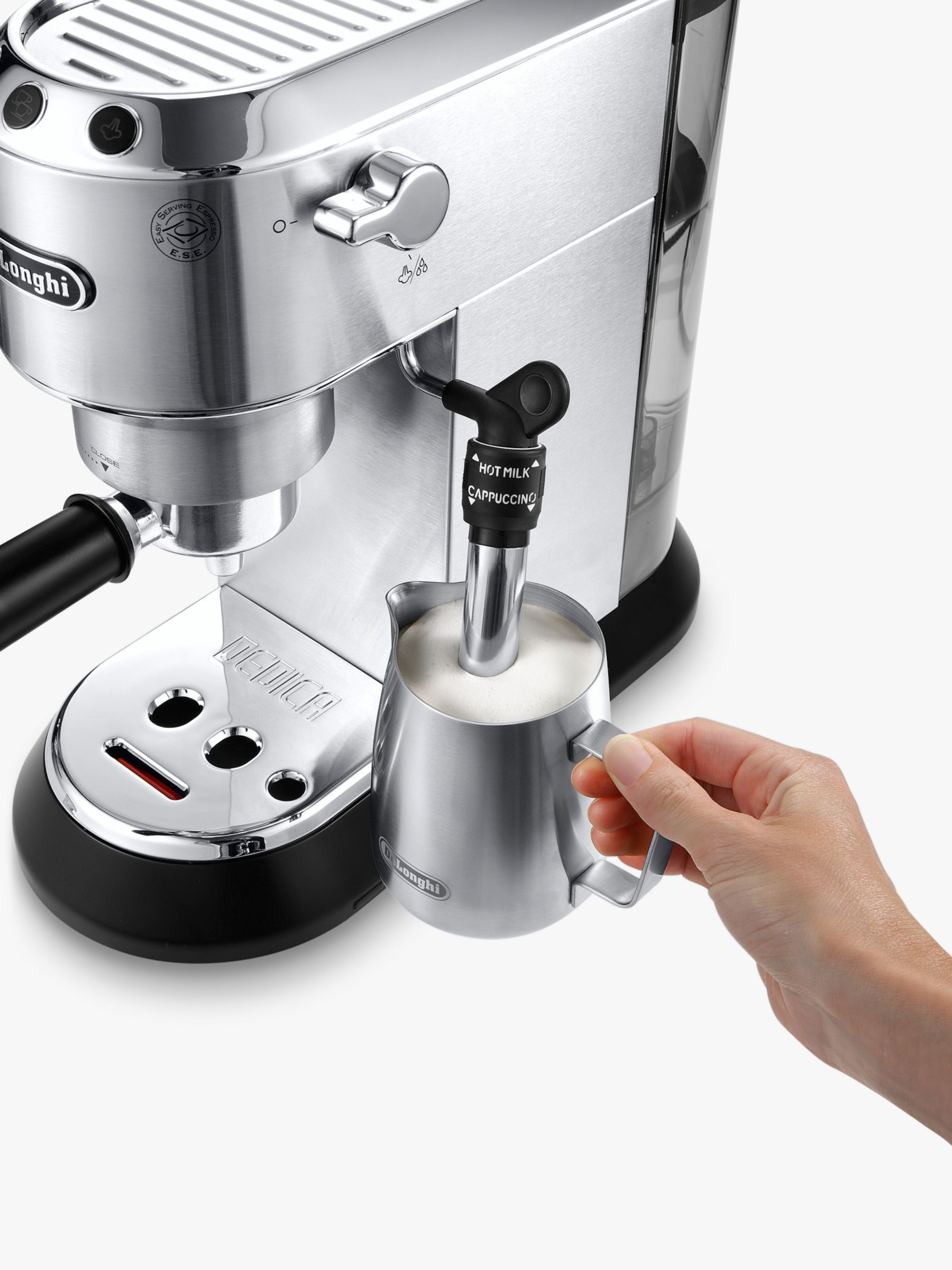 De Longhi Dedica Coffee Machine Bundle Silver Coffee Machine Espresso Machine Cappuccino Machine