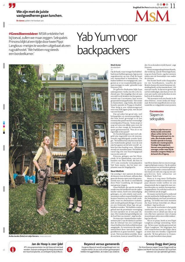 Newspaper De Pers, April 2011