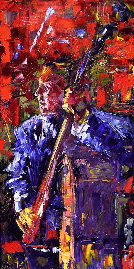Debra Hurd — Bass Walkup (447x900) Jazz painting, Music