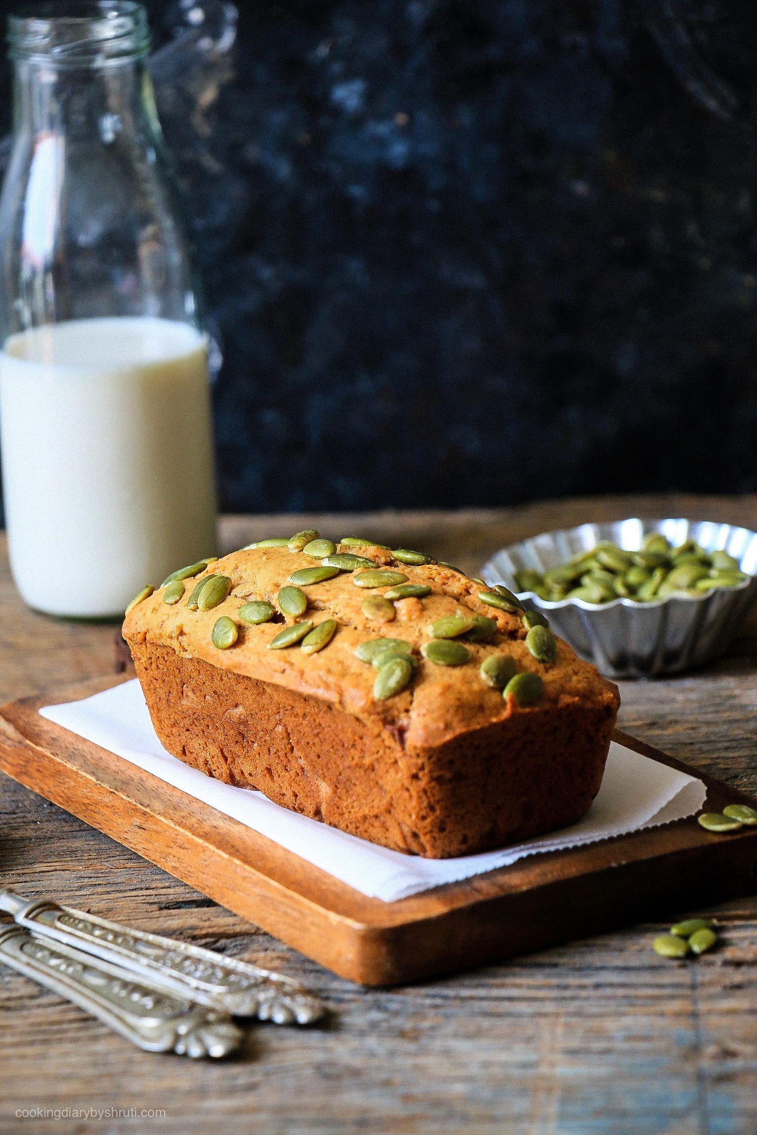 Oats & Pumpkin Seeds Banana Bread #pumpkinseedsrecipebaked
