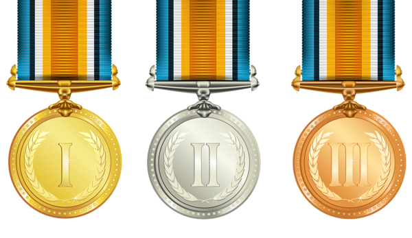Transparent Medals Set PNG Clipart | нагороди значки | Pinterest