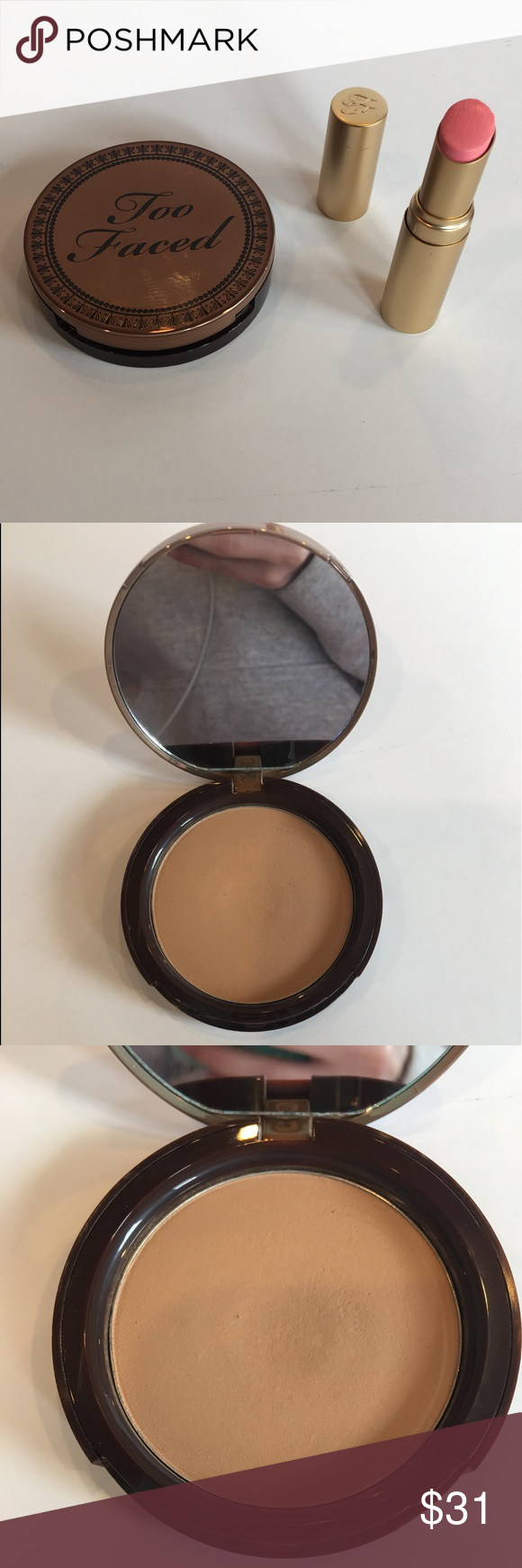 Too Faced Milk Chocolate Soleil Bronzer & Lipstick Lip