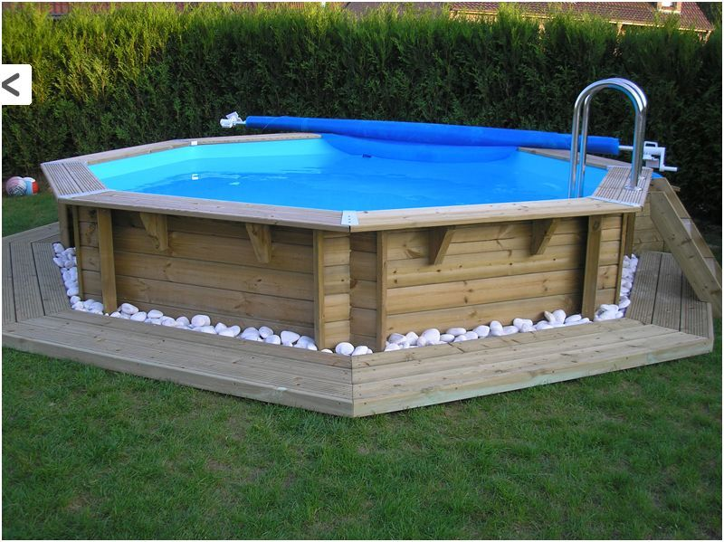 Piscine bois semi enterr e 3m 800 599 jardin for Piscine gonflable 3m