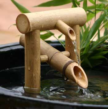 Aesthetic Bamboo Garden Fountains Japanese Bamboo Fountain Design