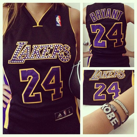 2fba21d29d2 Custom Lakers jersey with Swarovski crystals by GlamShackGirls, $85.00 I  would die of happiness!!! :))