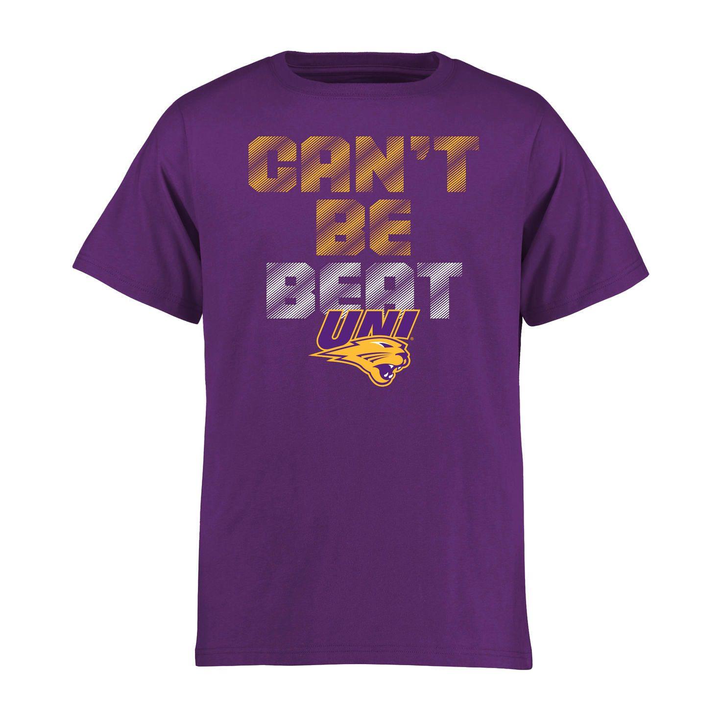Northern Iowa Panthers Can T Be Beat T Shirt Purple 17 99 Shirts T Shirt Black Shirt [ 1472 x 1472 Pixel ]