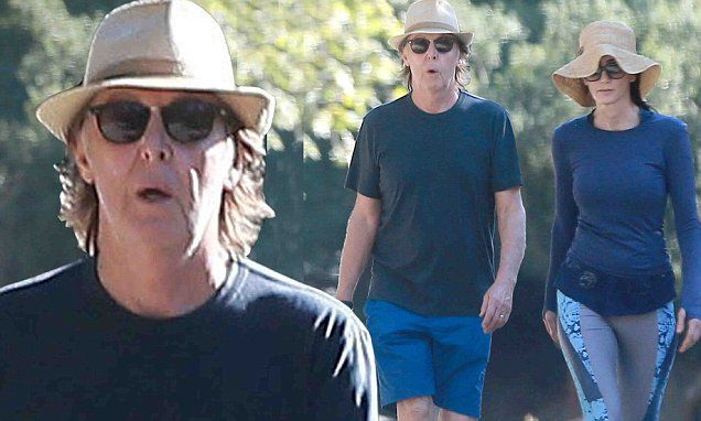 Paul McCartney and Nancy Shevell hike in Beverly Hills