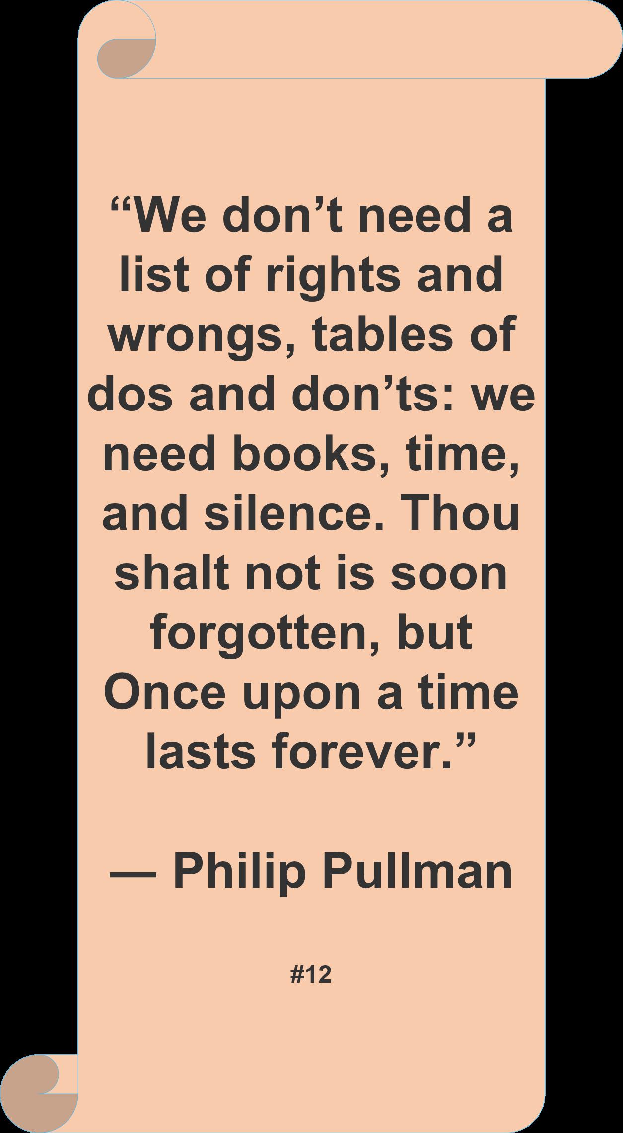 Philip Pullman Quote Author Reading