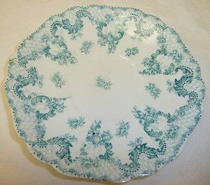 Antique Johnson Bros Semi Porcelain Cloverly Royal Saucer Trinket Dish.