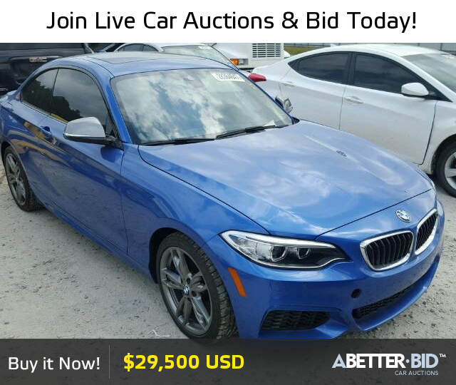 Salvage 2015 BMW M2 For Sale