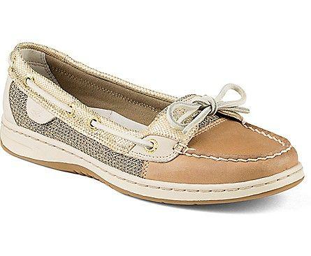 Sperry Angelfish Metallic Python Slip-On Boat Shoe Linen/Gold, Size Women's  Shoes Thanksgiving