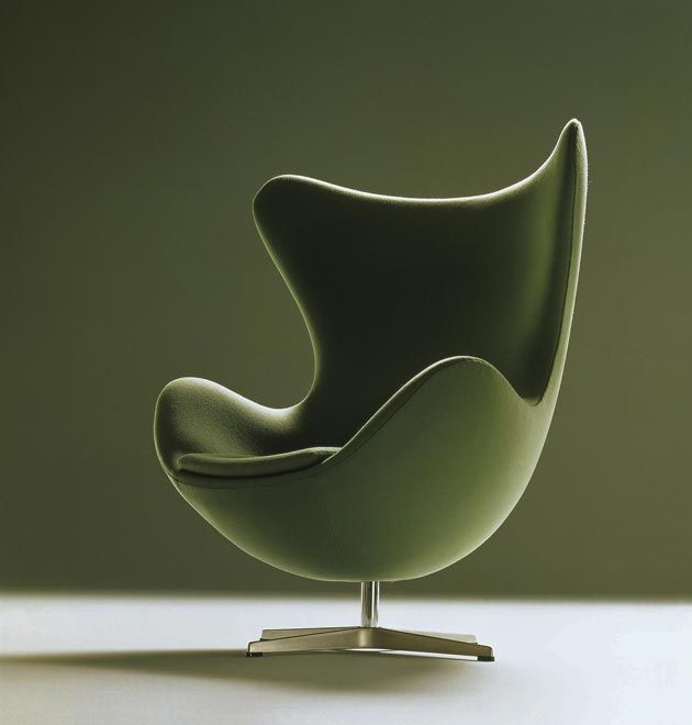 Egg chair in green armchair sessel fauteuil design for Sessel jacobsen