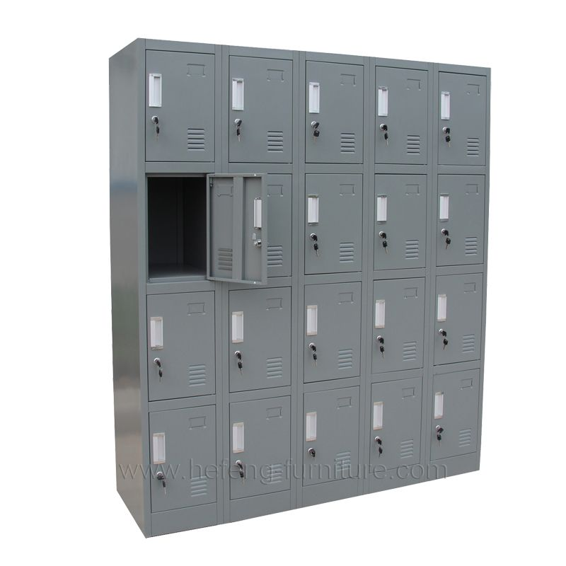 20 Door Metal Cabinet Lockers Luoyang Hefeng Furniture Locker Storage School Storage Locker Supplies