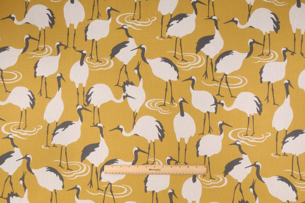 Image Result For Upholstery Fabric With Cranes Upholstery