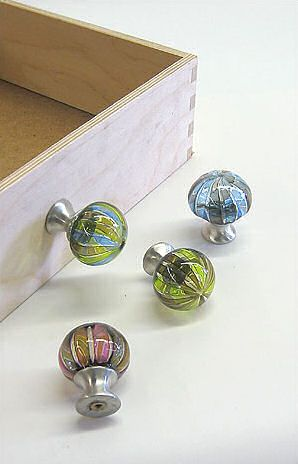 glass drawer pulls by tracy glover decorative hand blown drawer knobs - Decorative Drawer Knobs