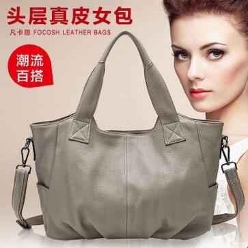 47.72$  Buy now - http://ali3az.worldwells.pw/go.php?t=32787589214 - New Arrival Genuine Leather Bags Women Messenger Bags Fashion Leisure Tide Woman Bag Shoulder Portable Handbag Dumplings Bags
