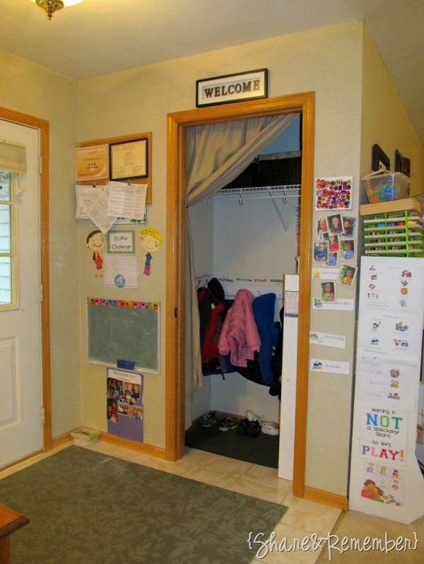 Cute Entry Closet With Images Family Day Care Entry Closet