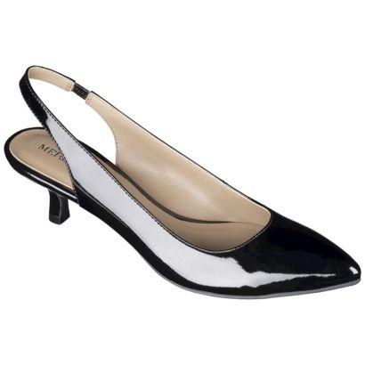 Women's Merona® Peyton Sling Back Kitten Heel Pump  target.com