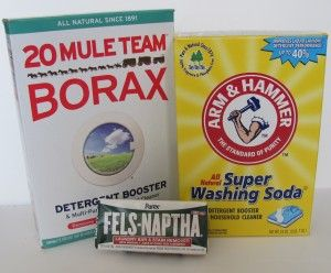 How To Make Homemade Laundry Detergent Using Only Borax Washing
