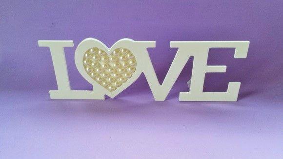Love com Pérolas *Pronta Entrega | Color Mine | Elo7