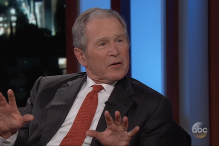 George W Bush Isn T Mad At Will Ferrell His Tv Counterpart Published 2017 Laugh George Humor