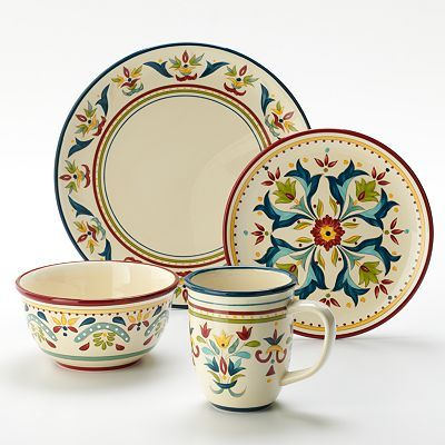 Pretty Plates @ Kohls Bobby Flay Home Sevilla Dinnerware Collection  sc 1 st  Pinterest : bobby flay dinnerware sets - pezcame.com