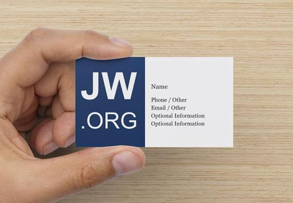 Custom JW org Personal Calling Card Ministry Supplies for Jehovah's