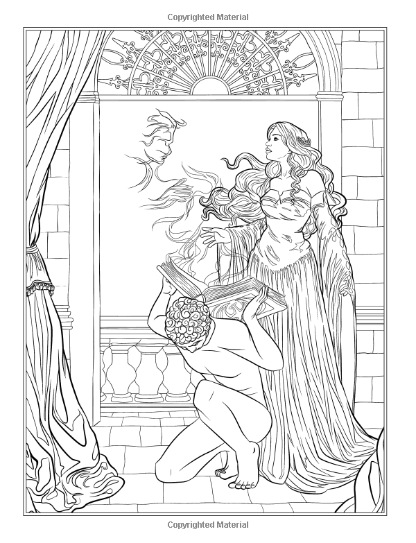 Gothic Dark Fantasy Coloring Book Volume 6 Fantasy Art